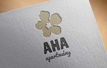 AHA Jasná - luxusné apartmány logo  grafika  print  web