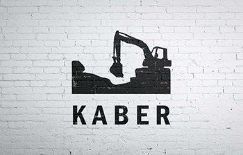 KABER logo  grafika  print  web