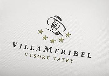 VILLA MERIBEL - luxusné apartmány logo  grafika  print  web