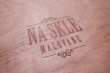 Na skle maľované logo  grafika  web